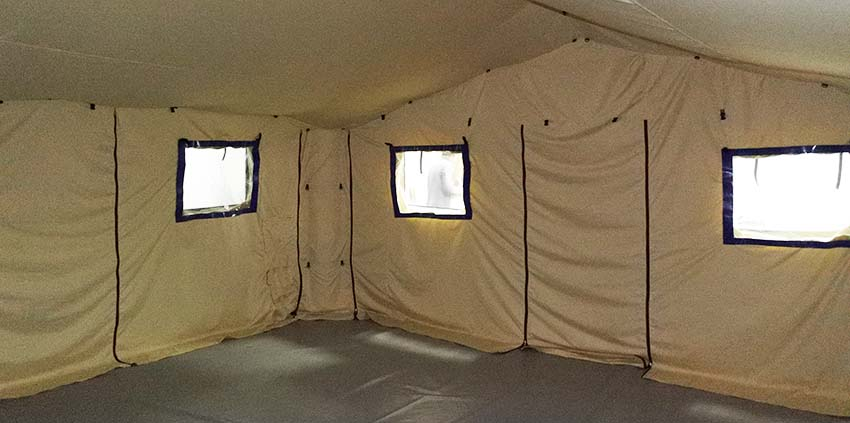 Interior of Universal modular inflatable tent shelter TENTER UMT type