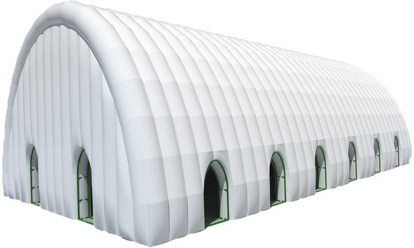 Example of medium sized inflatable building 533 sq.m