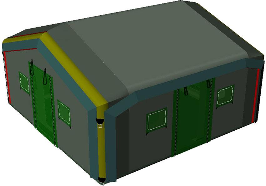 Universal modular inflatable tent TENTER UMT