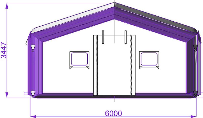 Universal modular tent TENTER UMT, front view