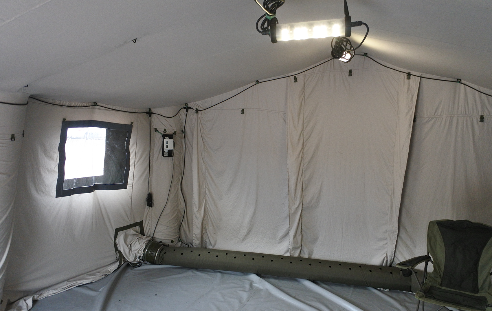 Air-frame inflatable military tent shelter TENTER AFT-27 inner view with liner