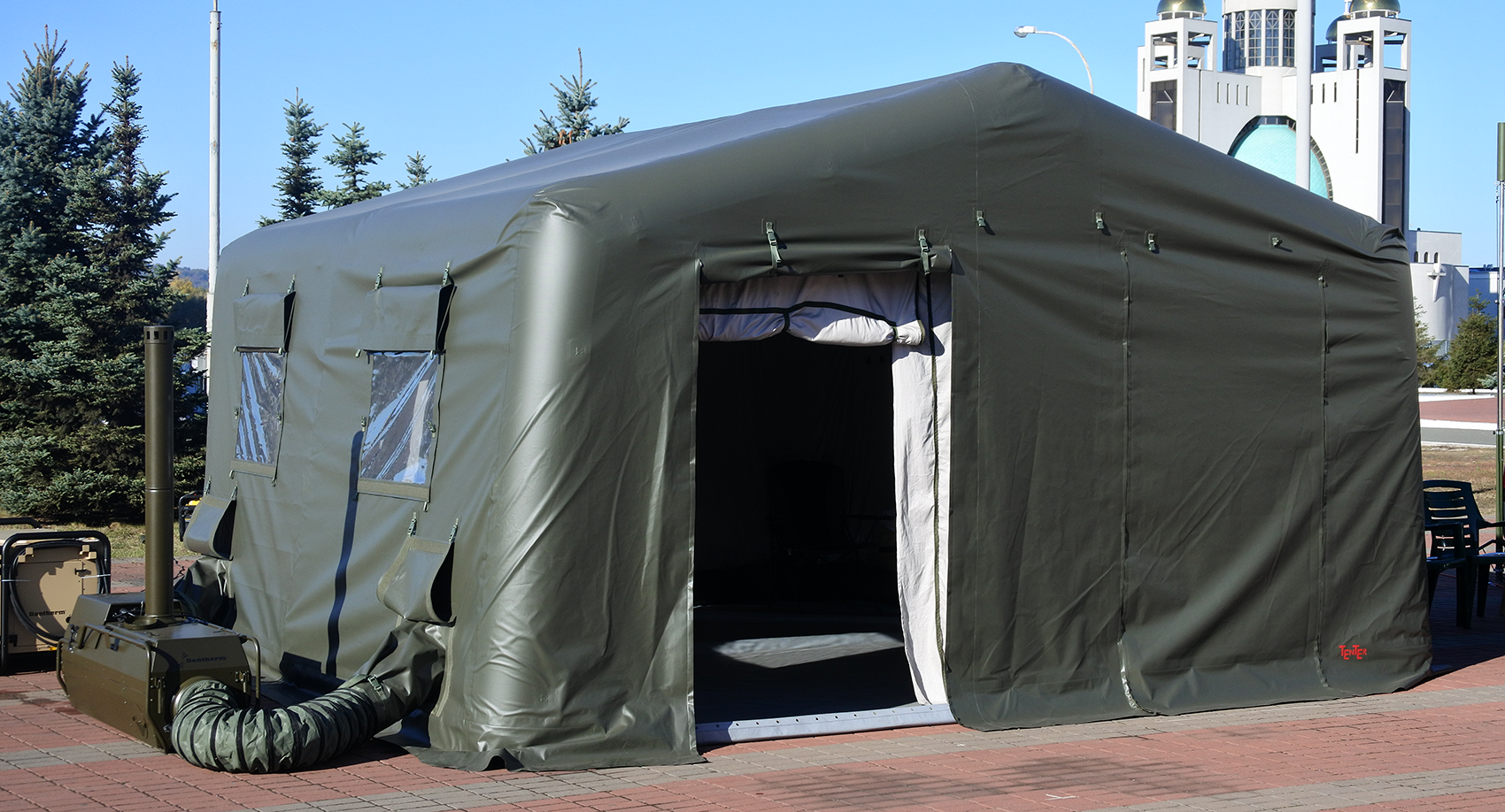 Air-frame inflatable military tent shelter TENTER AFT-27 : military command tent - memphite.com